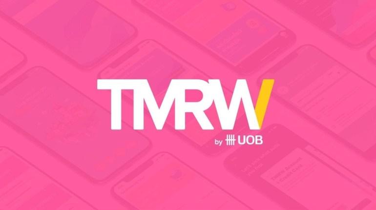 ภาพกราฟิกประชาสัมพันธ์ธนาคารดิจิทัล TMRW by UOB