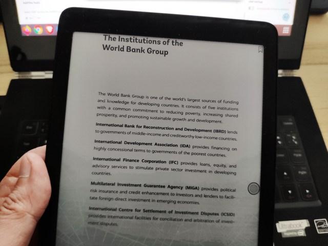 ลองอ่านรายงานประจำปี 2562 ของธนาคารโลก แบบ PDF ด้วย Onyx Boox Nova Pro