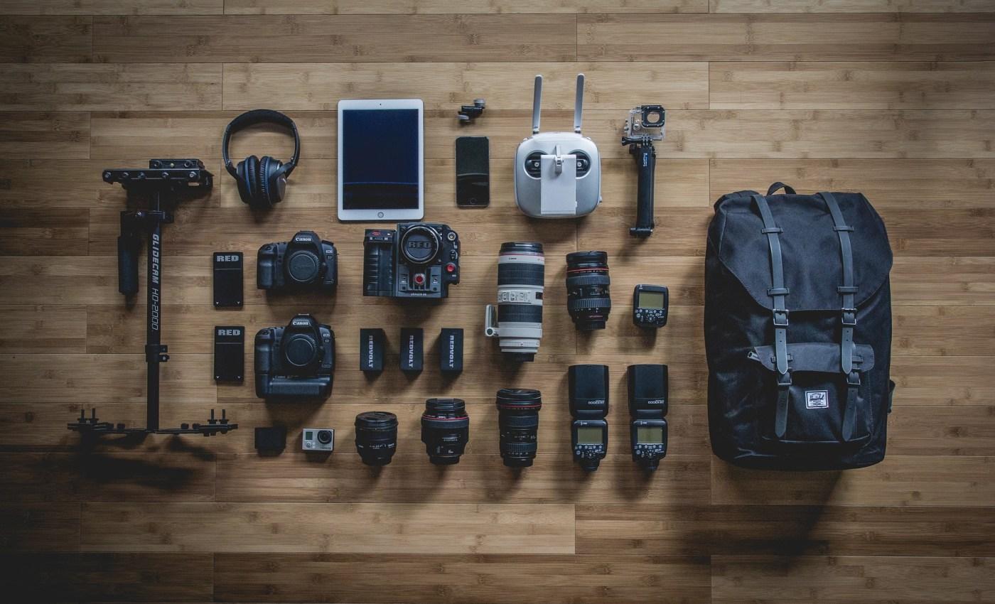 อุปกรณ์ต่างๆ ของช่างภาพมืออาชีพ