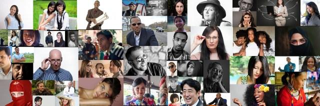 ภาพถ่ายบุคคลหลากหลายเชื้อชาติและเผ่าพันธุ์