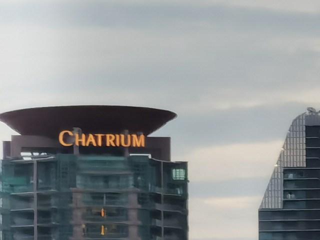 ภาพของตึก Chatrium แบบซูม 20x