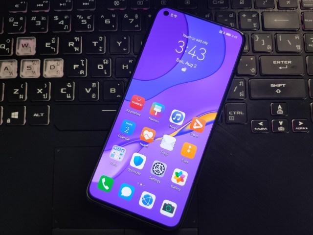 ด้านหน้าของ Huawei Nova 7