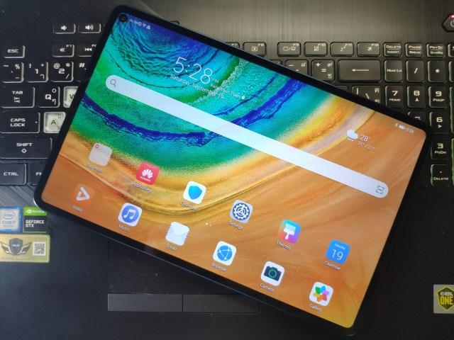 ด้านหน้าของ Huawei MatePad Pro 5G