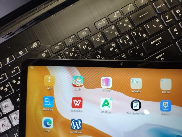 ภาพระยะใกล้ของ Huawei MatePad 10.4 WiFi เห็นกล้องด้านหน้า