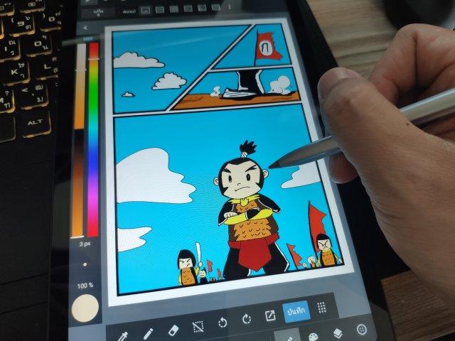 ลองใช้ M-Pencil กับ Huawei MatePad 10.4 WiFi วาดการ์ตูนด้วยแอป MediaBang