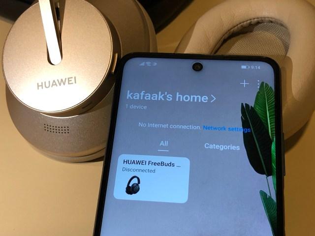 แอป Huawei AI Life แสดงชื่อของหูฟัง Huawei FreeBuds Studio