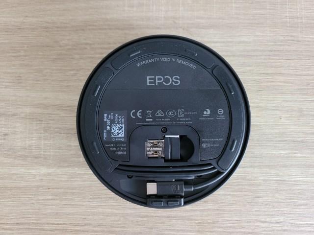 ด้านล่างของลำโพง EPOS Expand SP30T