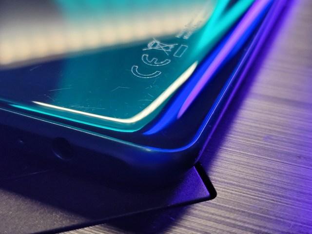 ดีไซน์ขอบตัวเครื่องโค้งของ Huawei Y7a (2020)