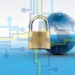 กราฟิกรูปแม่กุญแจและลูกโลก แทนการเข้าถึงอินเทอร์เน็ตอย่างปลอดภัยด้วย SSL