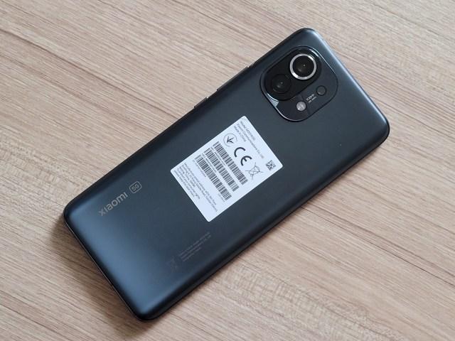 ด้านหลังของสมาร์ทโฟน Xiaomi Mi 11 5G