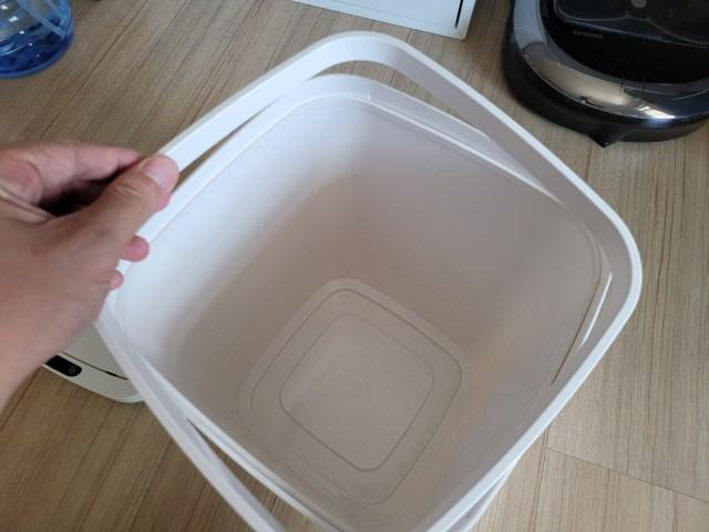 Liner ring หรือ แหวนสี่เหลี่ยมสำหรับจับถุงใส่ขยะด้านใน