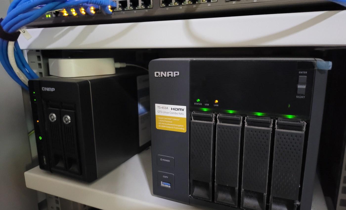 QNAP NAS ในตู้ Rack