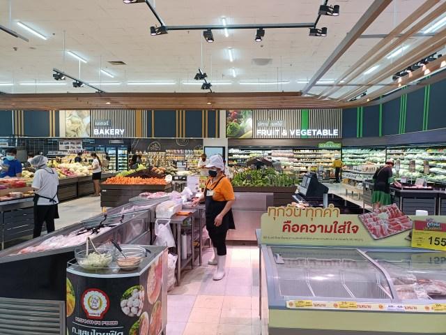 ภาพในห้างบิ๊กซี ตรงโซนที่ขายผักและเนื้อสัตว์