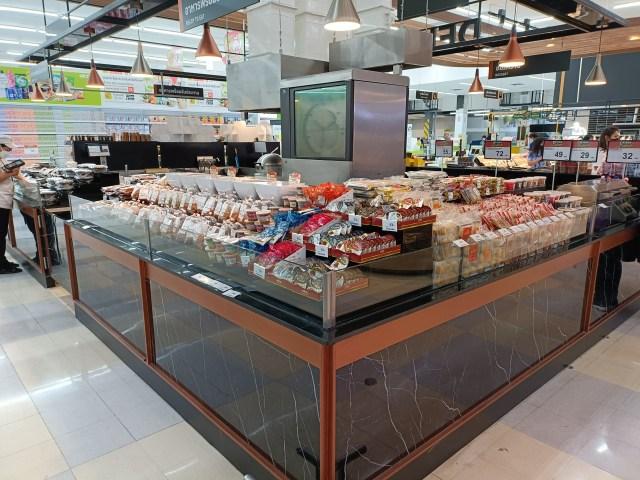 ภาพมุมขายอาหารพร้อมรับประทานในห้างบิ๊กซี ถ่ายที่ระยะ 1x