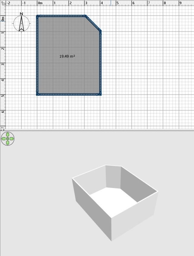 โปรแกรม Sweet Home 3D ตอนกำหนดกำแพงของห้อง