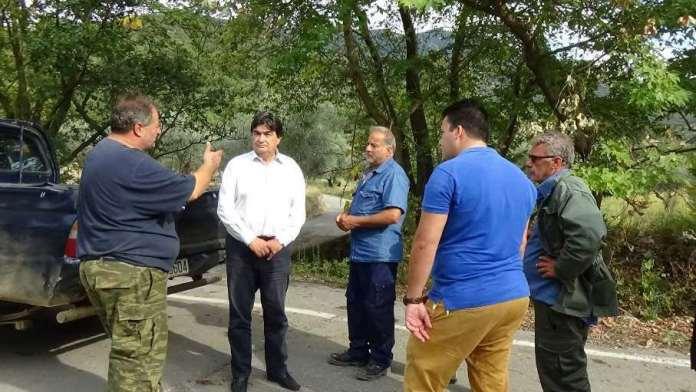 """Αυτοψία Γιαννακούρα στις πληγείσες από τον κυκλώνα """"Ζορμπά"""" περιοχές του Δήμου Μεγαλόπολης"""
