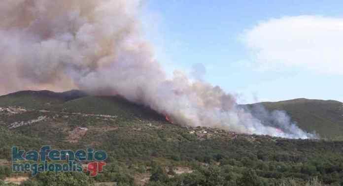 Τραυματισμός του αντιδημάρχου Μεγαλόπολης κ. Σιέμπου στην φωτιά στα Καλύβια