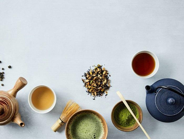Bilde av te og teutstyr