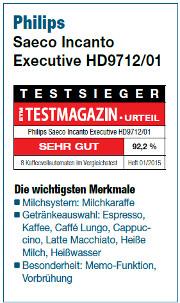Saeco Incanto Executive HD9712_testsieger