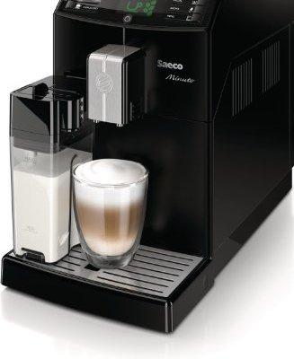 Saeco-HD876301-Minuto-Kaffeevollautomat-integrierte-Milchkaraffe-schwarz-0