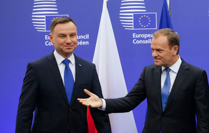 Polish President Andrzej Duda visits European council in Brussels
