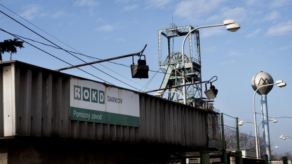 Outside view of the Darkov coal mine near Ostrava, Czech Republic