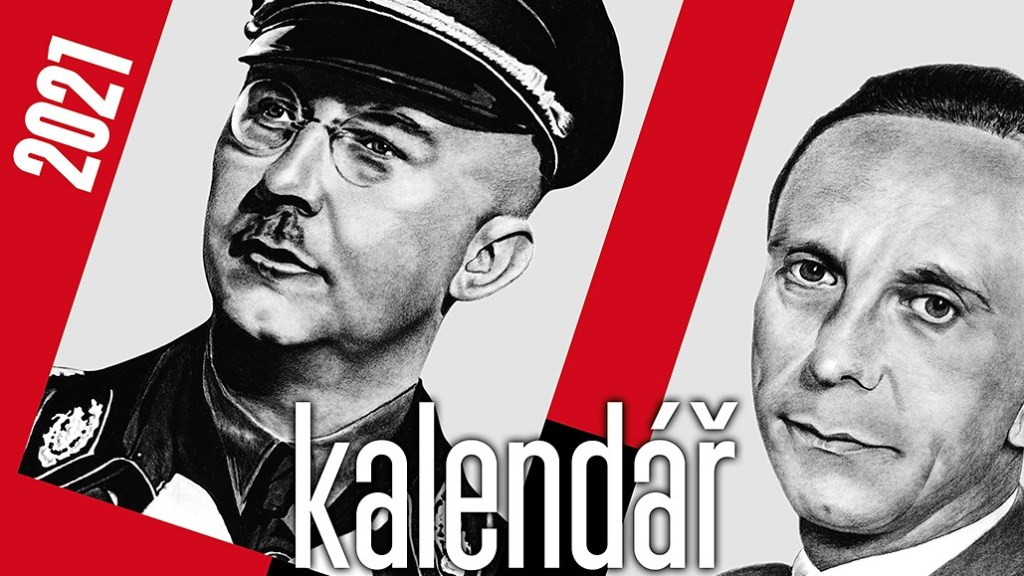 Screenshot of a Nazi-themed calendar on sale in the Czech Republic