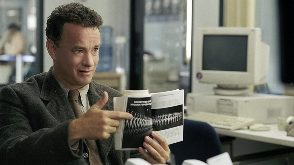 Still of Tom Hanks in The Terminal, directed by Steven Spielberg