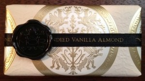MOR vanilla almond soap. Photo: Kim at averysweetblog.com. (Website link embedded within photo.)