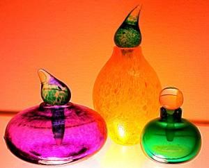 Glass Perfume Bottles--Swedish art. Source: pixels.com