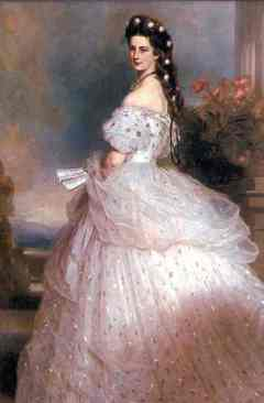 Empress Sissi of Austria, portrait by Winterhalter. Source: Wikipedia.com