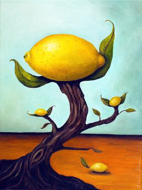 """Lemon Tree"" poster by Leah Saulnier, The Painting Maniac at pixels.com. (Website link embedded within.)"