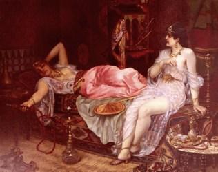 """In the Harem,"" Moritz Stifter, 1890. Source: artrenewal.org"