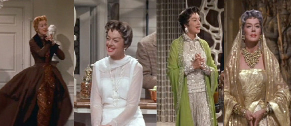 Some of Auntie Mame's wardrobe. Photo and source: frockflicks.com