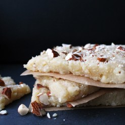 """Badam Barfi (or burfi), a SE Asian almond dessert. Photo & source: The Cherished Bite blog. (Direct link embedded within.)"
