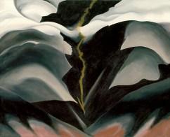 "Georgia O'Keeffe, ""Black Place II,"" 1944 via metmuseum.org"