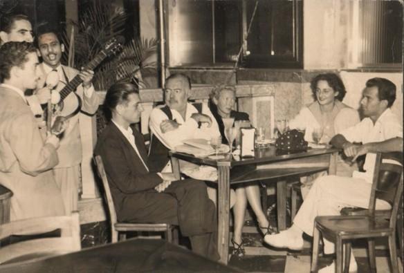 Hemingway in a Cuban bar. Source: hemingwaycuba.com