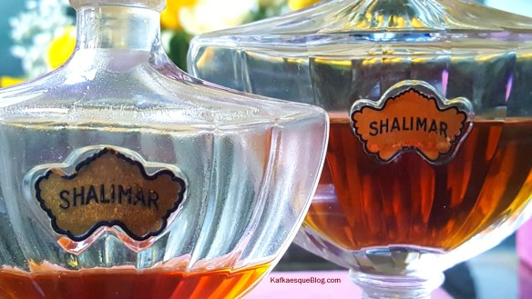 Vintage Shalimar labels. Photo: my own.
