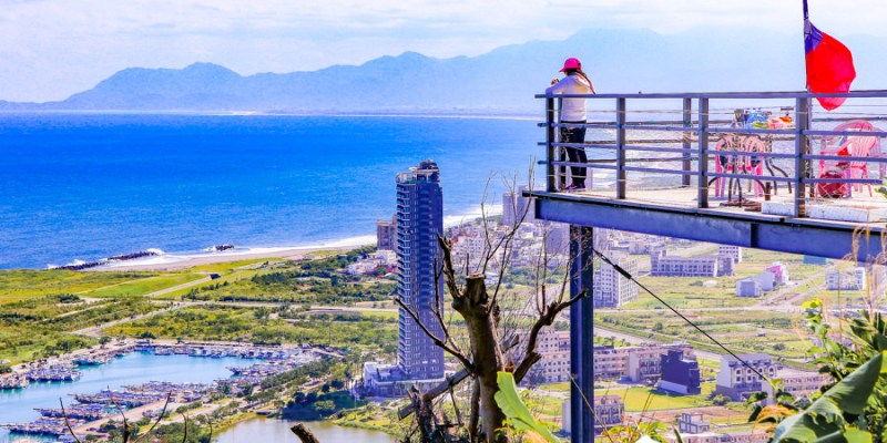 【宜蘭秘境】蟾蜍山觀景台 無敵海景壯觀夜景!用鳥的視角看龜山島與蘭陽平原