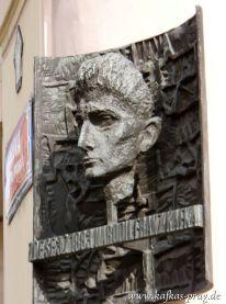 Kafka-Denkmal an seinem Geburtshaus