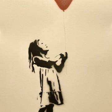 Girl with the Balloon, Kobber