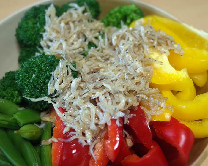 野菜のシラスのアヒージョドレッシング