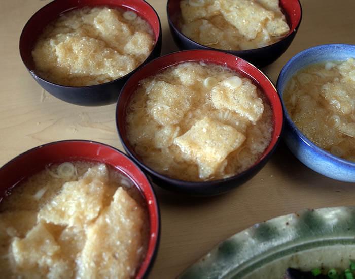 松山揚げのお味噌汁