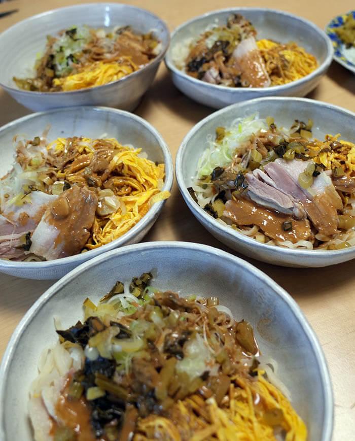 北京風冷麺_卵焼き