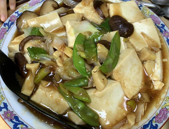 豆腐の牡蛎油炒め