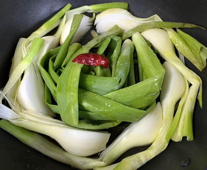 葉玉ねぎのオイル煮