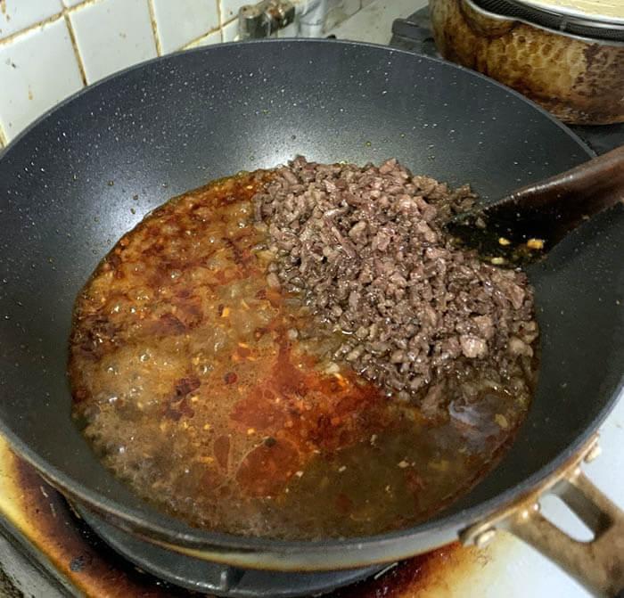 ラム肉の麻婆豆腐