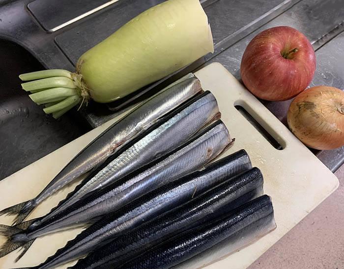 秋刀魚の手綱焼き