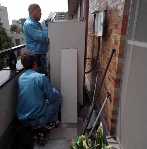 全館空調システム 室外機のチェック