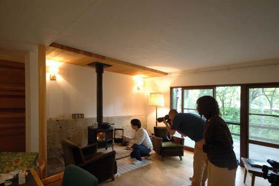 軽井沢Y別荘リフォームの取材撮影